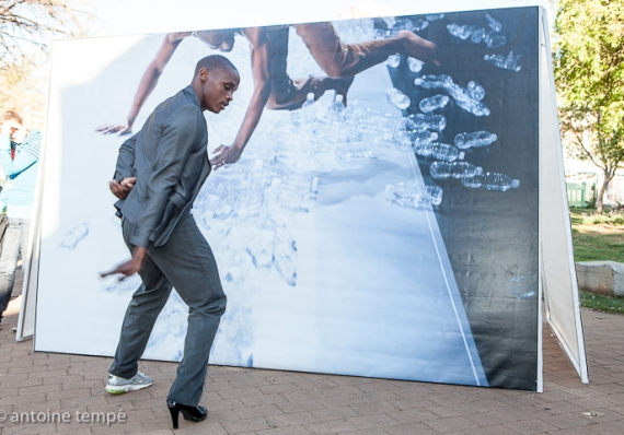 ' Let's dance ' Antoine Tempé Exhibition – Opening with a performance of Fana Tshabalala